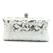 22 geekbuy CAIYUE Women Handbag Party Evening Envelope Clutch Bag Wallet Purse Messenger Phone - Silver