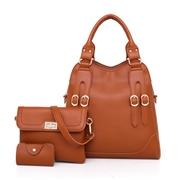 24 geekbuy Fashion Toet Purse Satchel Bag PU Leather Womens Handbags - Brown
