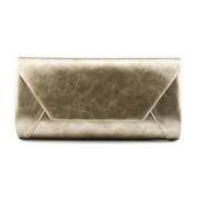 22 geekbuy Women Handbag Party Evening Envelope Clutch Bag Wallet Purse Messenger Phone HS002 - Light Gold