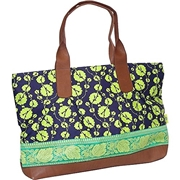 Amy Butler Abina Oversized Tote,Cotton Vine Navy,one size