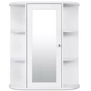 Costway Bathroom Cabinet Single Door Shelves Wall Mount