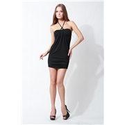 Pink Queen Black Strap Club Dress