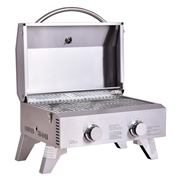 Costway 2 Burner Portable Stainless Steel BBQ Table Top Grill for Outdoors
