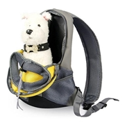 22 geekbuy Pet Carrier Backpack Puppy Handbag Sided Bag Large Size - Yellow