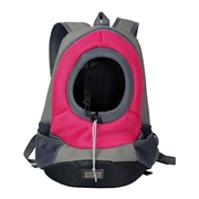 22 geekbuy Pet Carrier Backpack Puppy Handbag Sided Bag Large Size - Red