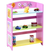 Costway Kids Adorable Corner Adjustable Bookshelf w/3 Shelves
