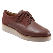 Softwalk Womens Willis Oxford Shoe - Wide, Color: Cinnamon, Size: 7