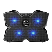 23 geekbuy CoolCold Ice Magic 2 K25 USB 2.0 Four Fans Laptop Cooling Pad Radiator Notebook Heat Sink - Black