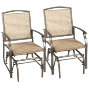 Costway 2 pcs Patio Swing Single Glider Chair Rocking Seating