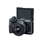 Canon 1724C011 EOS M6 - Digital camera - mirrorless - 24.2 MP - APS-C - 1080p / 60 fps - 3x optical zoom EF-M 15-45mm IS lens - Wi-Fi NFC Bluetooth