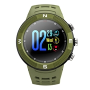 24 geekbuy NO.1 F18 Sports Smartwatch 1.3 Inch TFT Touch Screen Bluetooth 4.2 IP68 Built-in GPS Heart Rate Monitor Call Message Reminder - Green
