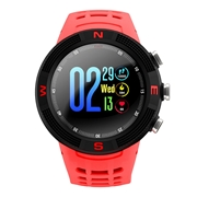 24 geekbuy NO.1 F18 Sports Smartwatch 1.3 Inch TFT Touch Screen Bluetooth 4.2 IP68 Built-in GPS Heart Rate Monitor Call Message Reminder - Red