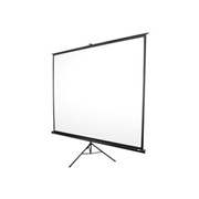 Elite Screens T72UWH Tripod Series T72UWH - Projection screen with tripod - 72 in 72 in - 16:9 - MaxWhite - black
