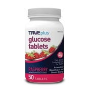 Trividia Health TRUEplus Glucose Tablets 50 ct- Raspberry