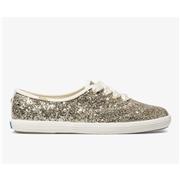 Keds x kate spade new york Champion Glitter Platinum Gold, Size 6m Womens Shoes