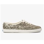 Keds x kate spade new york Champion Glitter Platinum Gold, Size 8m Womens Shoes