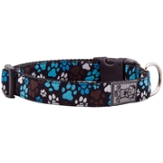 RC Pet Products Pitter Patter Dog Collar, 9-13, Small, Black / Multi-Color