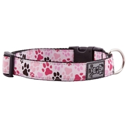 RC Pet Products Pitter Patter Pink Dog Collar, 15-25, Large, Pink / Multi-Color