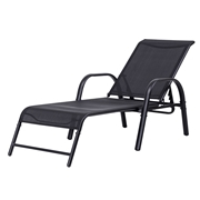 Costway Outdoor Patio Chaise Lounge Chair Sling Recliner