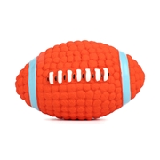 16 geekbuy Pet Dog Treat Ball Toy Chew Rugby Latex Tooth Cleaning Dental Non-Toxic Bite Resistant