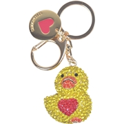 Love Moschino Women s Gold Rhinestone Duck Keyring Handbag Charm Dangle