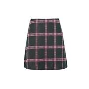 *Lola Skye Green Check Print Skirt