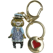 Love Moschino Women s Gold Rhinestone Bear Keyring Handbag Charm Dangle
