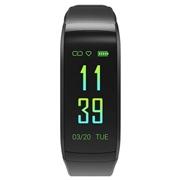 23 geekbuy Makibes KR02 Smart Bracelet Color Screen IP68 Water Resistant Built-in GPS Heart Rate Monitor - Black