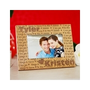www giftsforyounow com Engraved I Love You Wooden Picture Frame