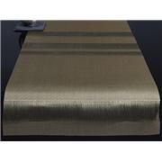 Chilewich Tuxedo Stripe Table Runner - Silver