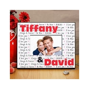 www giftsforyounow com Personalized I Love You Printed Picture Frame