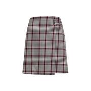 Dorothy Perkins Multi Colour Check Print Wrap Mini Skirt