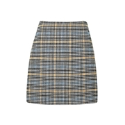 Dorothy Perkins Blue and Yellow Check Print Mini Skirt
