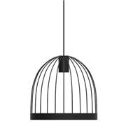 Fferrone Design Bird Cage LED Pendant - Shape C Telegraph Gray