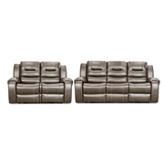 Cambridge Clark 2-Piece Gray Sofa, Loveseat Living Room Set