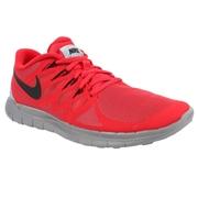 Nike Free 5.0 Flash Mens Training Shoes - Red/Gray/Black; 12.0