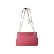 Guess Womens Lyra Convertible Crossbody Handbag - Black