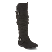 SMARTWAY GARMENTS Bongo Womens Mirage Knee High Slouch Boot - Black, Wide Width Available, Size: 5.5