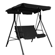 Costway Love Seat Patio Canopy Swing-Black
