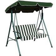 Costway Love Seat Patio Canopy Swing-Green
