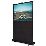 Costway 60 4:3 Portable Floor Pull up Aluminium Case Projection Screen