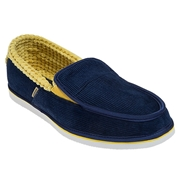 Warrior Chancla Mens Shoes - Blue/Yellow; 7.0