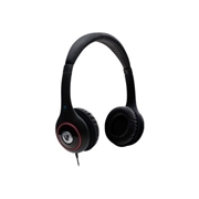 V7 HA510-2NP Deluxe Headphones w/ Volume Control - Black w/ Color Accents