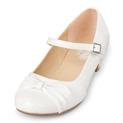 Girls Faux Leather Mini Heel Shoes - White - The Childrens Place
