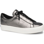 Keds Rise Metro Glitter Leather Black, Size 10m Womens Shoes