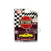 Greenlight 1966 Ford Mustang Shelby GT350 Yellow with Black Stripes Caffeine and Octane 2017 TV Show Release 1 in the Series 1/64 Diecast Model Car by Green