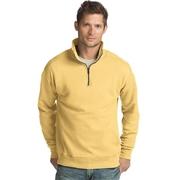 Hanes Mens Nano Premium Lightweight Quarter Zip Jacket Vintage Gold XL