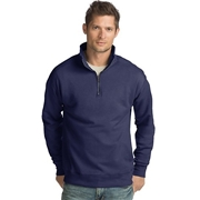 Hanes Mens Nano Premium Lightweight Quarter Zip Jacket Vintage Navy XL