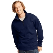 Hanes Mens Nano Premium Lightweight Quarter Zip Jacket Navy 3XL