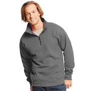 Hanes Mens Nano Premium Lightweight Quarter Zip Jacket Vintage Gray 3XL